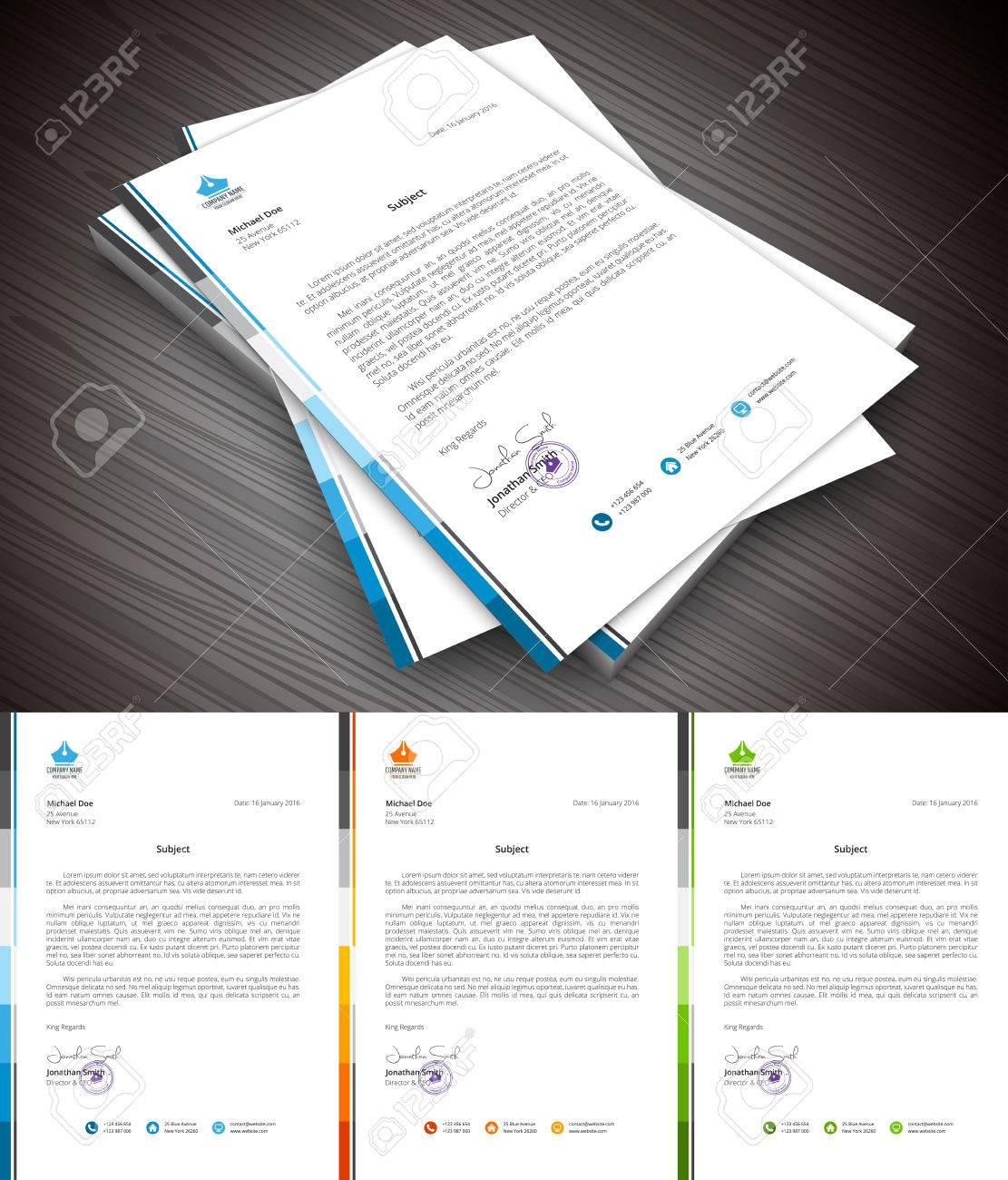 This is simple and creative letterhead for business and personal purpose usages. Well organized and layered. Easy to edit. - 52985140
