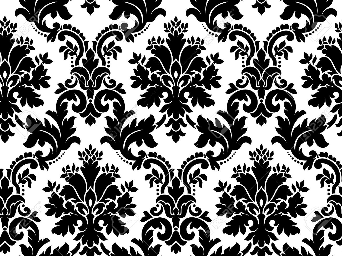vector seamless damask pattern royalty free cliparts vectors and