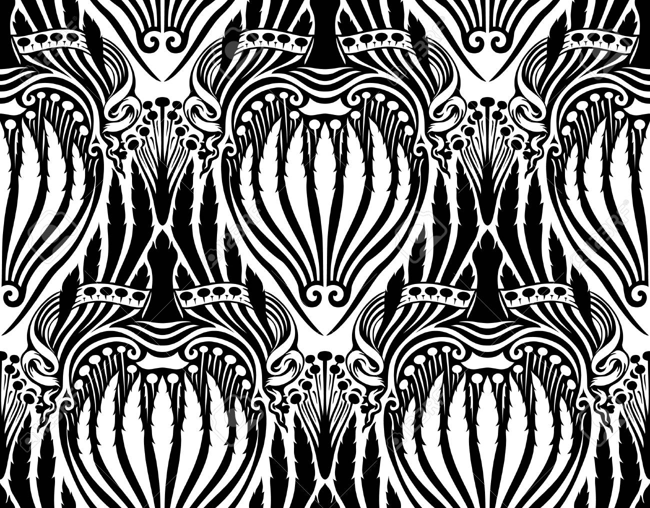 Vector. Seamless floral pattern Stock Vector - 4152309
