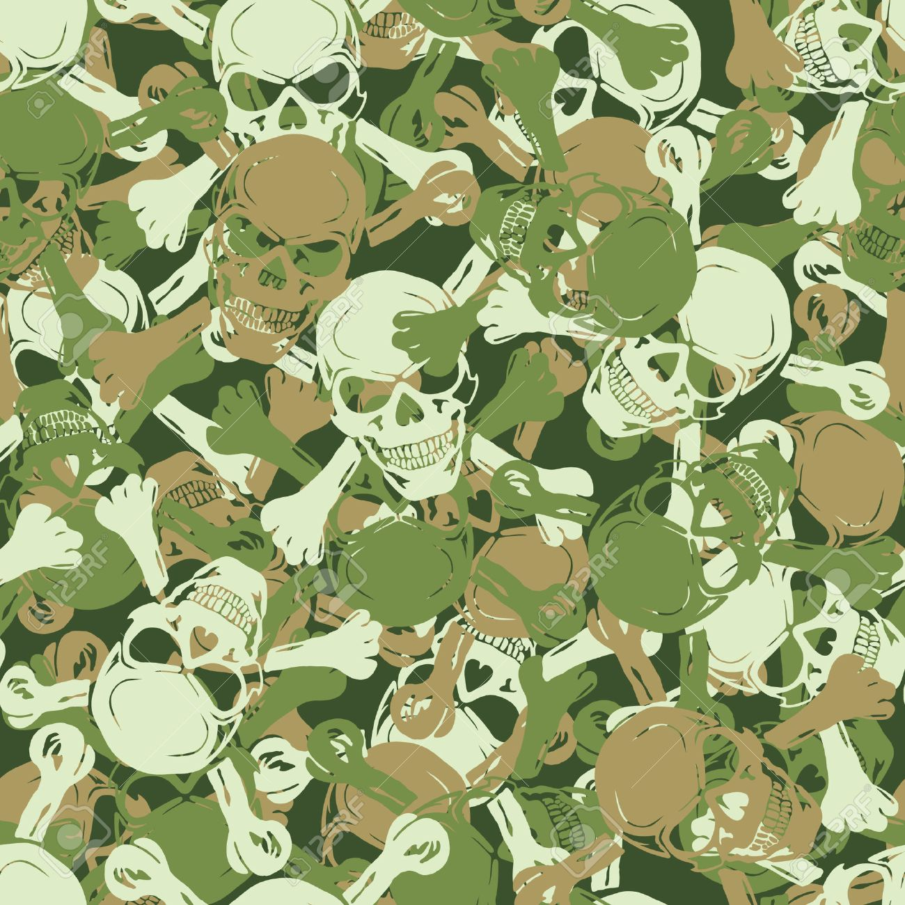 Vector. Seamless skull camouflage pattern Stock Vector - 4060718