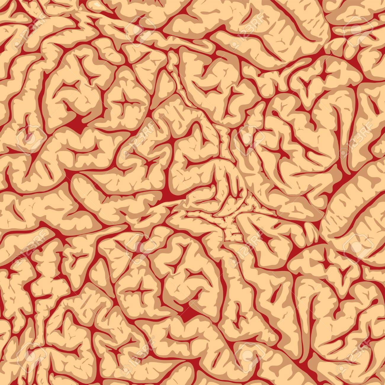 Seamless brain convolutions Stock Vector - 16829870