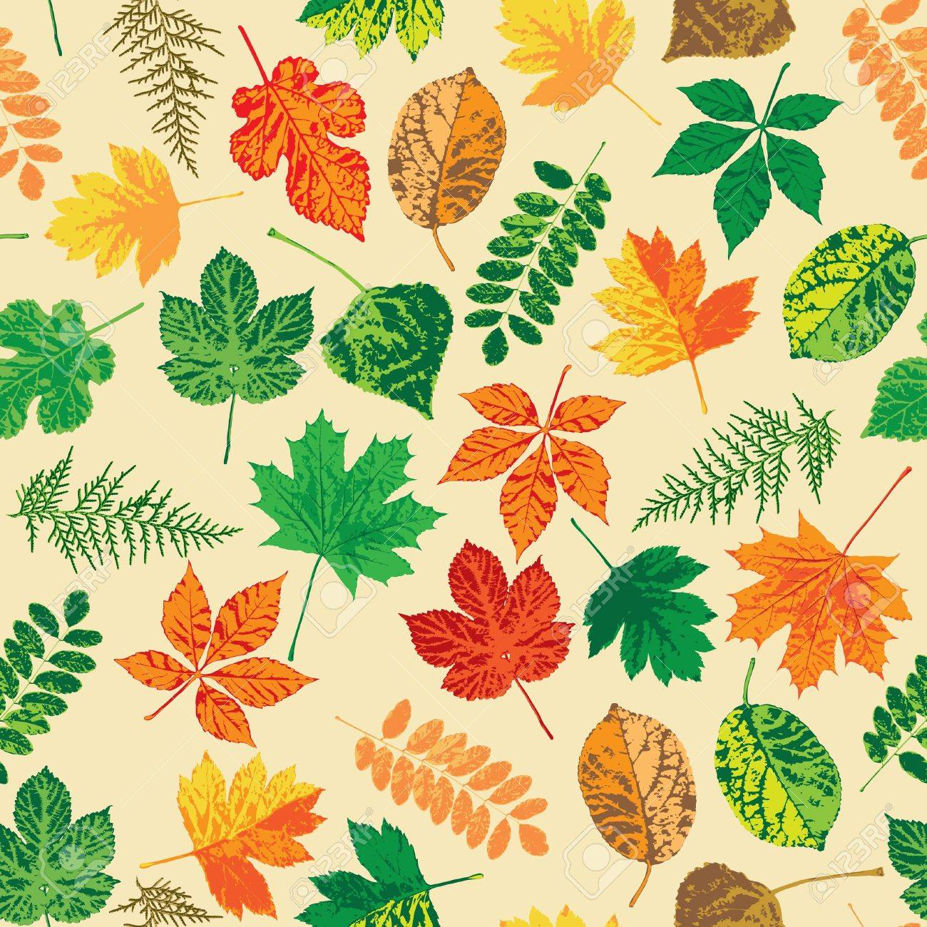 Autumn leaves, seamless Stock Vector - 16829932
