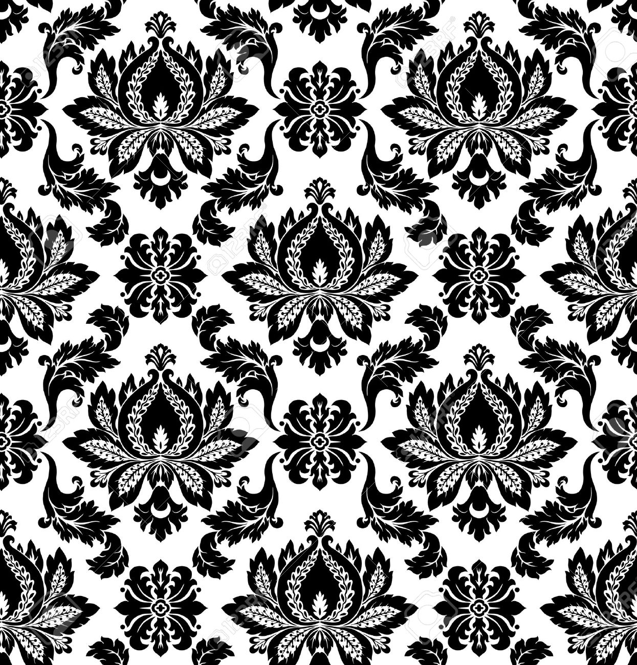 Vector  Seamless damask pattern Stock Vector - 16829899