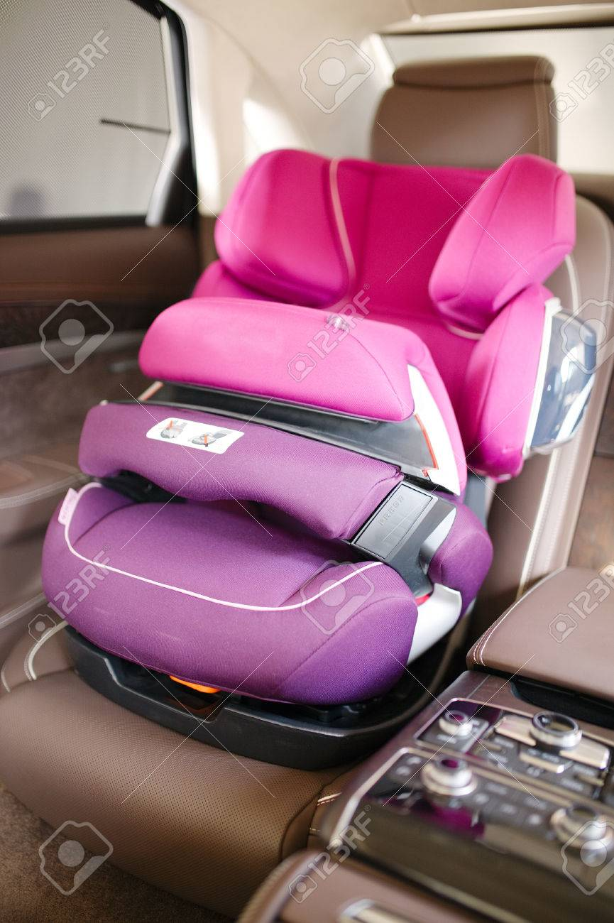 Luxury Baby Car Seat For Safety Stock Photo Picture And Royalty