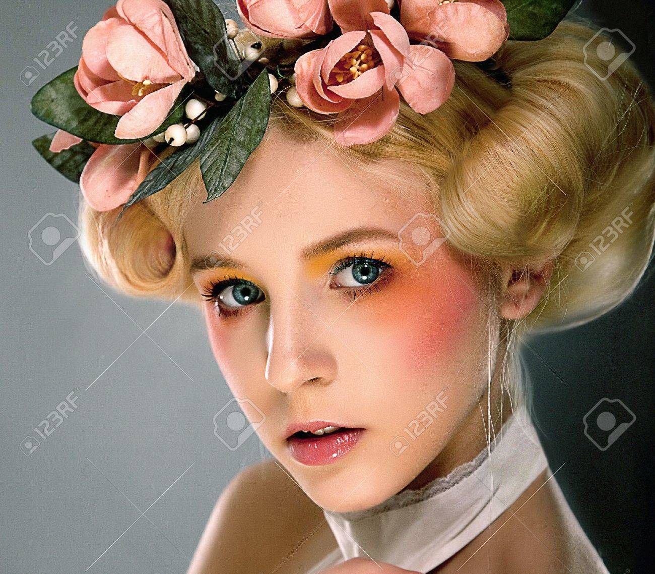 Belle - bright young blonde girl closeup portrait Stock Photo - 11927940