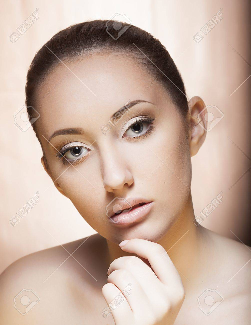 Fresh Young female Face - Spa concept, Cosmetology concept Stock Photo - 16673264