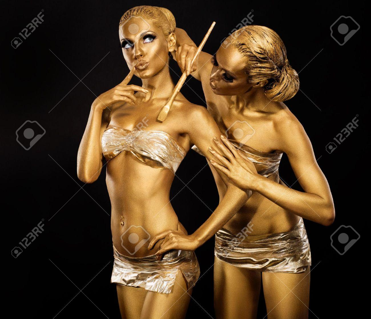 Body Paint Brushes Body Art Woman Painting Body