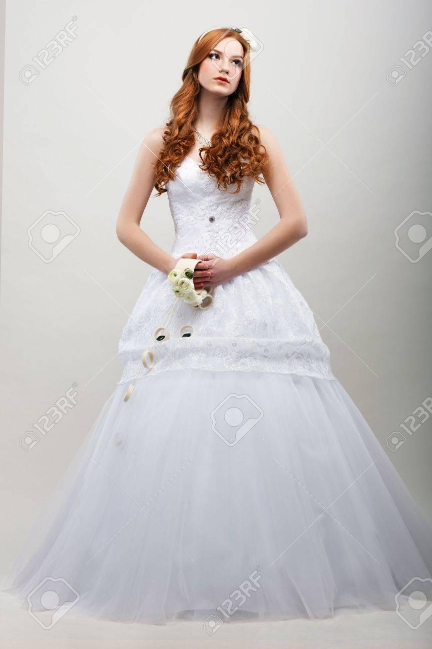 Vestido largo blanco de flores