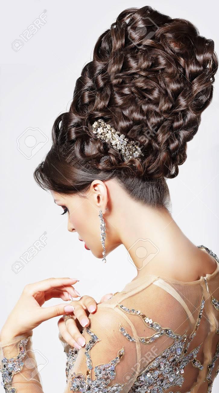 Luxury  Fashion Model with Trendy Updo - Braided Tress  Vogue Style Stock Photo - 23423441