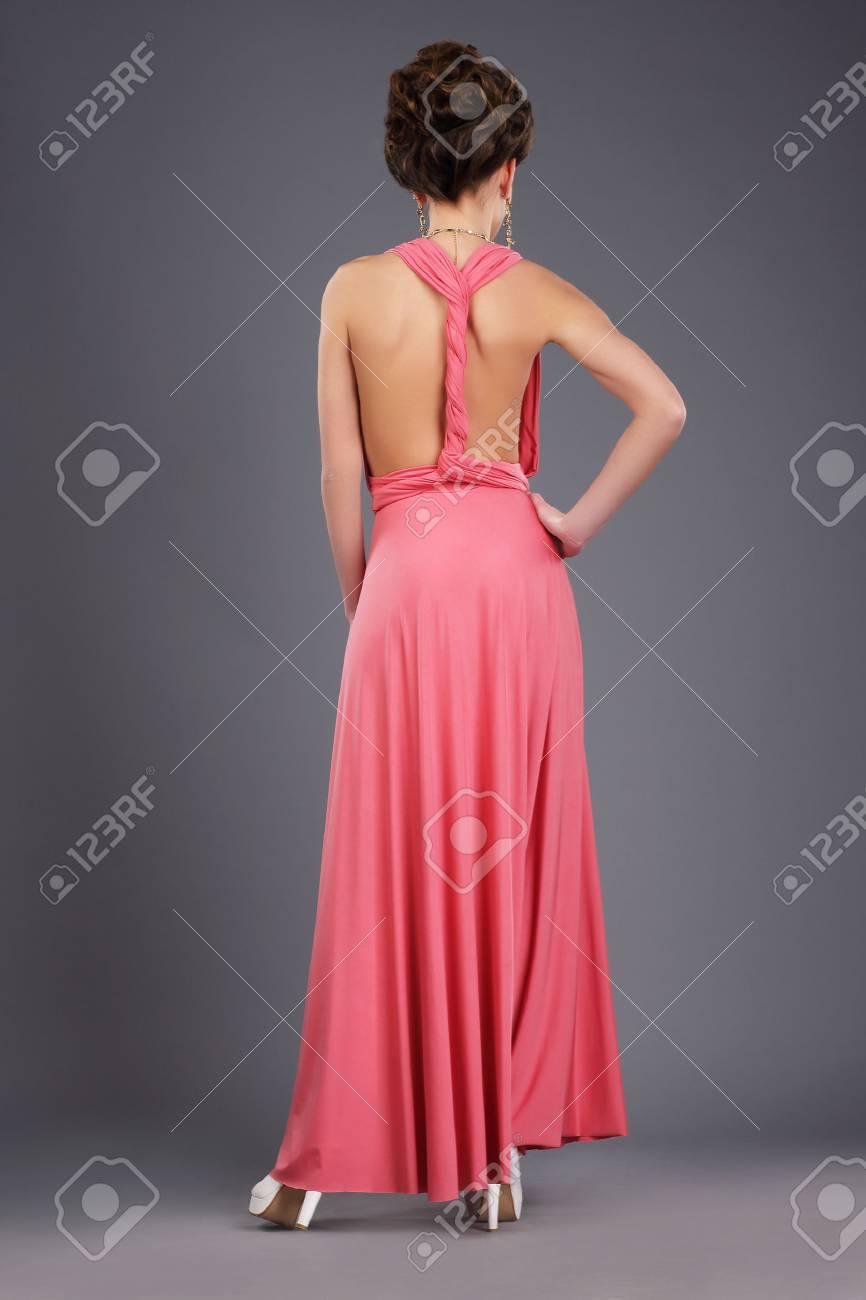 Único Vestido De Fiesta Posterior Atractiva Friso - Colección de ...