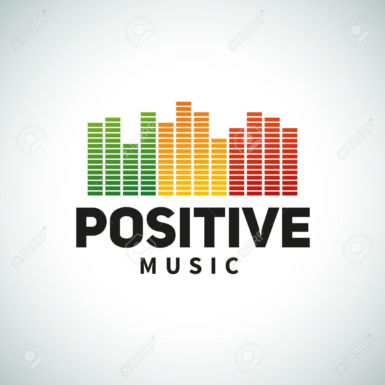 Reggae music equalizer logo emblem vector design  Positive dub