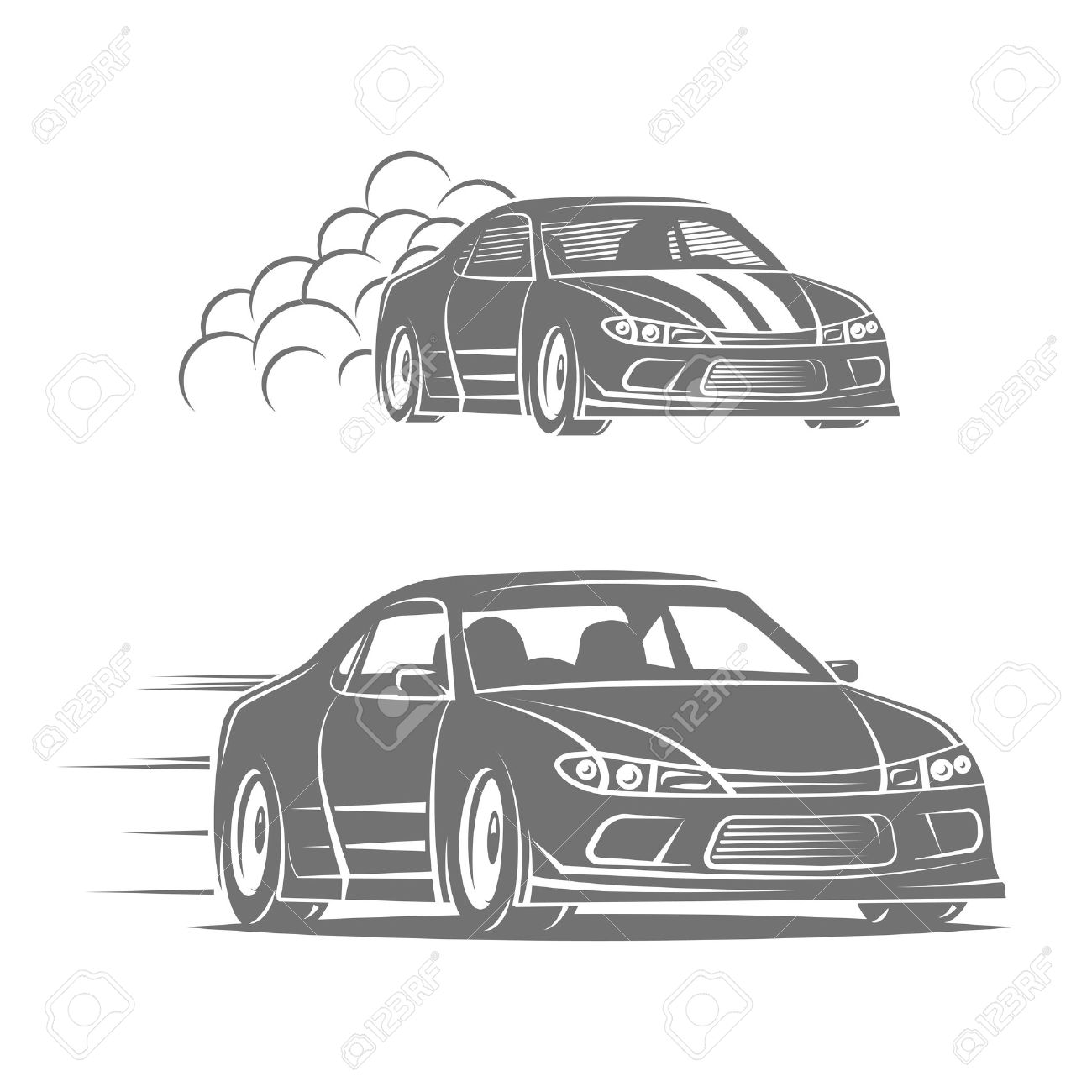 Sport Car Icon Design Street Racing Illustration Drift Show Royalty Free Cliparts Vectors And Stock Illustration Image 43939028
