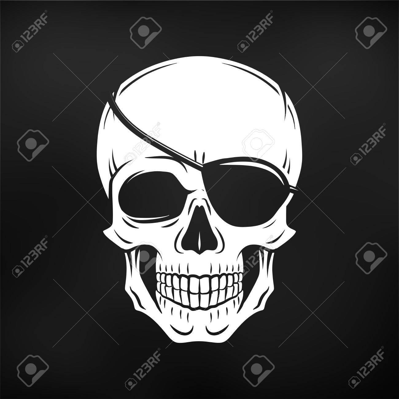 Vector Cráneo Maldad Humana. Jolly Roger, Con Plantilla De Logotipo ...