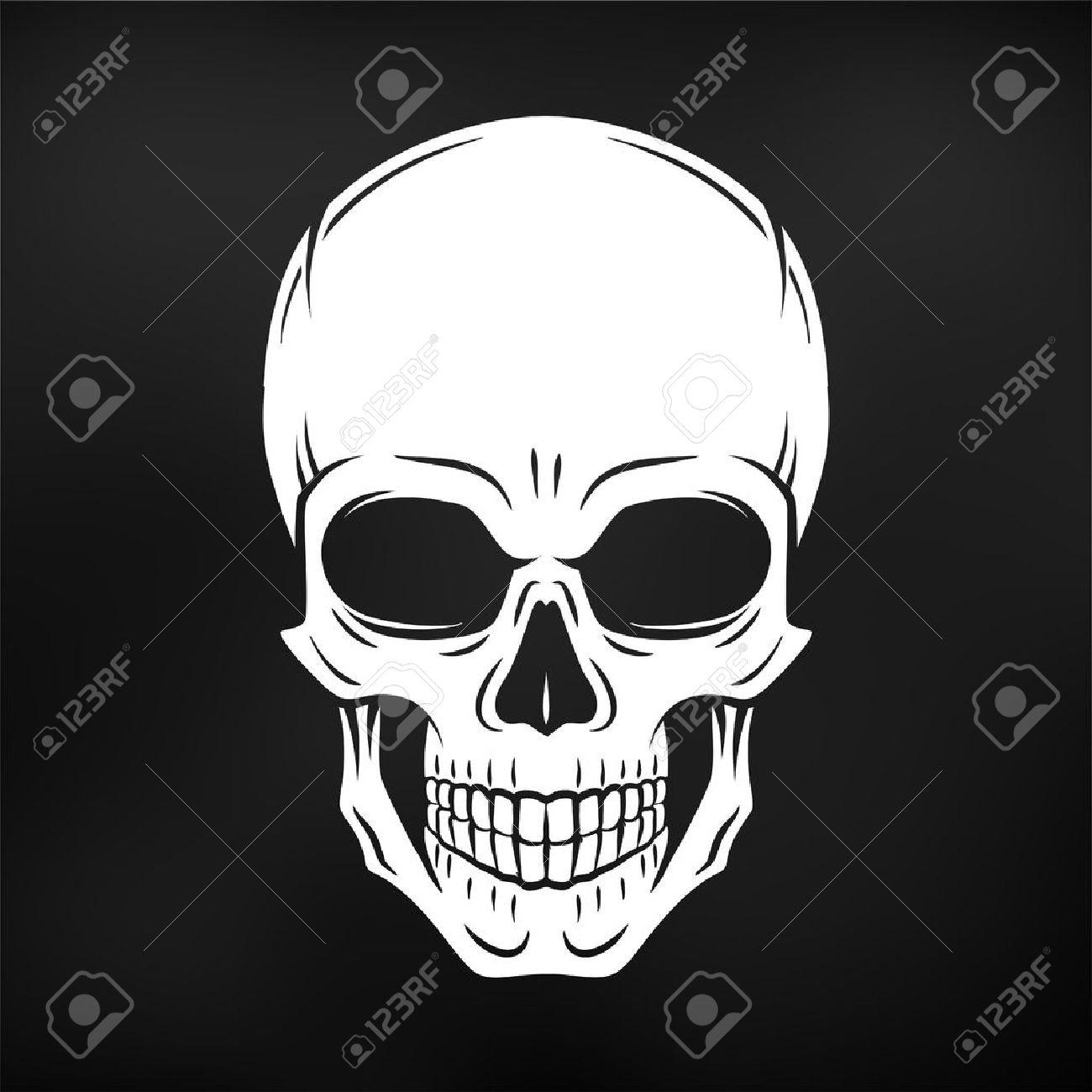 human evil skull vector jolly roger logo template death t shirt
