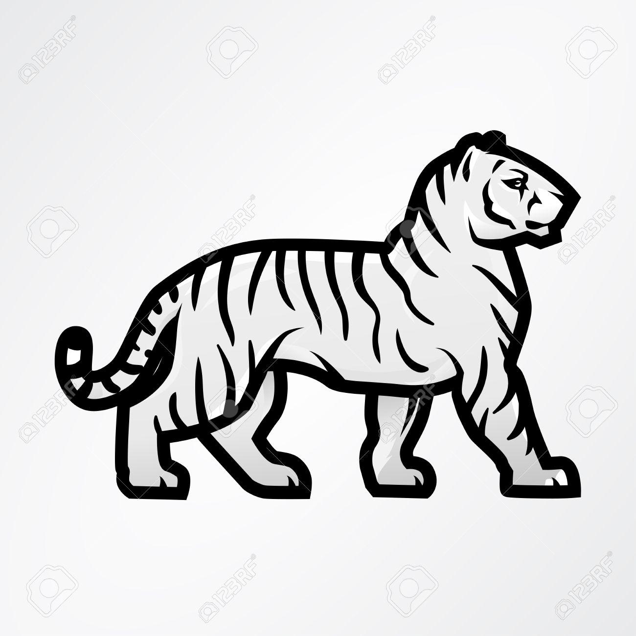Tiger logo vector  Mascot design template  Shop or product illustration