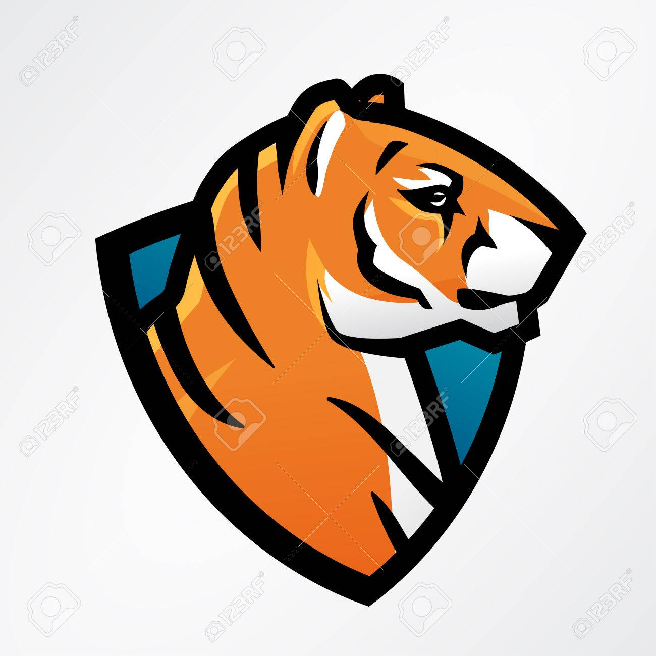 Tiger shield sport mascot template football or baseball patch tiger shield sport mascot template football or baseball patch design college league insignia maxwellsz