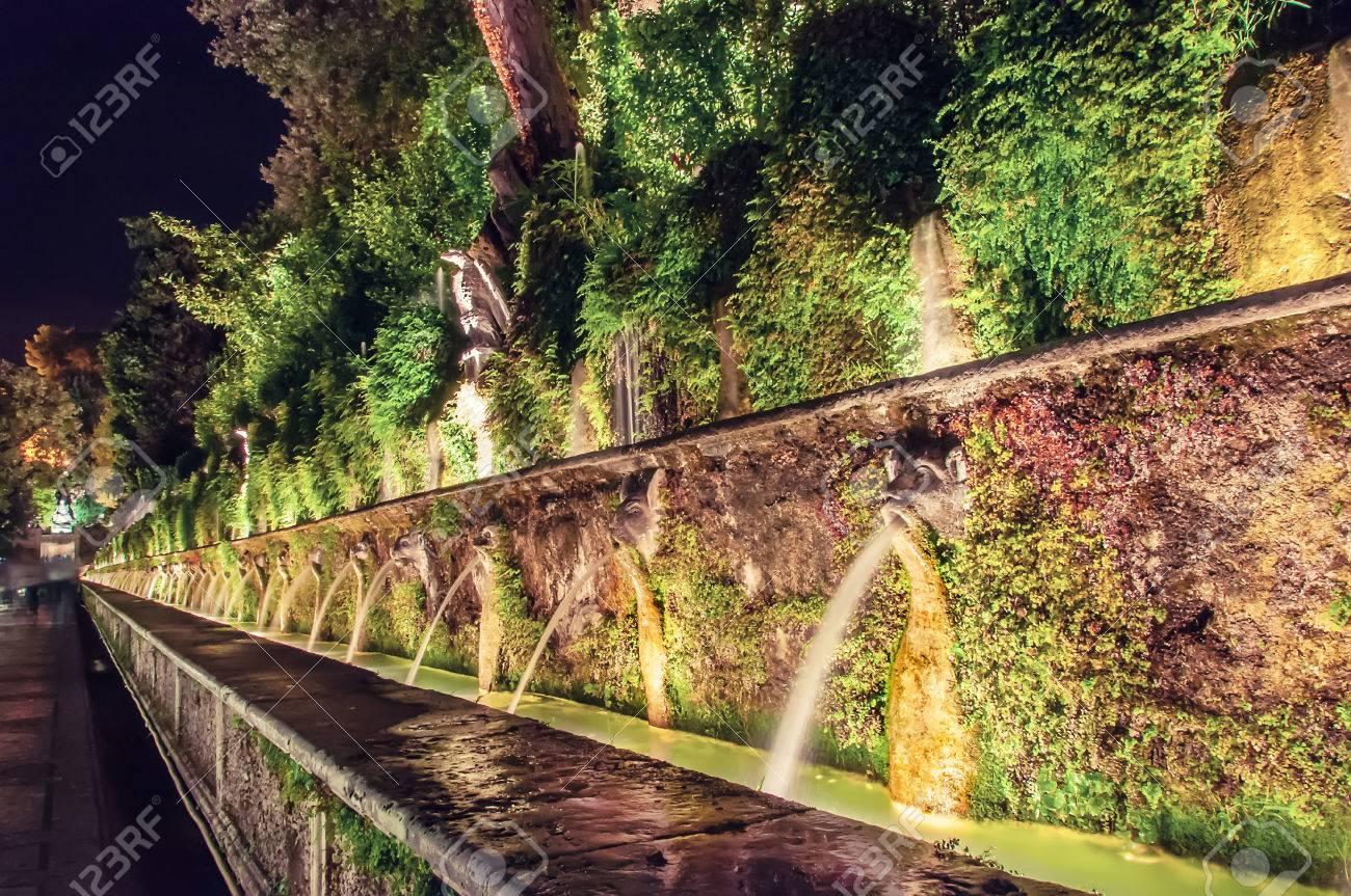 Italy, Rome, Tivoli, Fountain In The Garden Of The Villa D\'Este ...