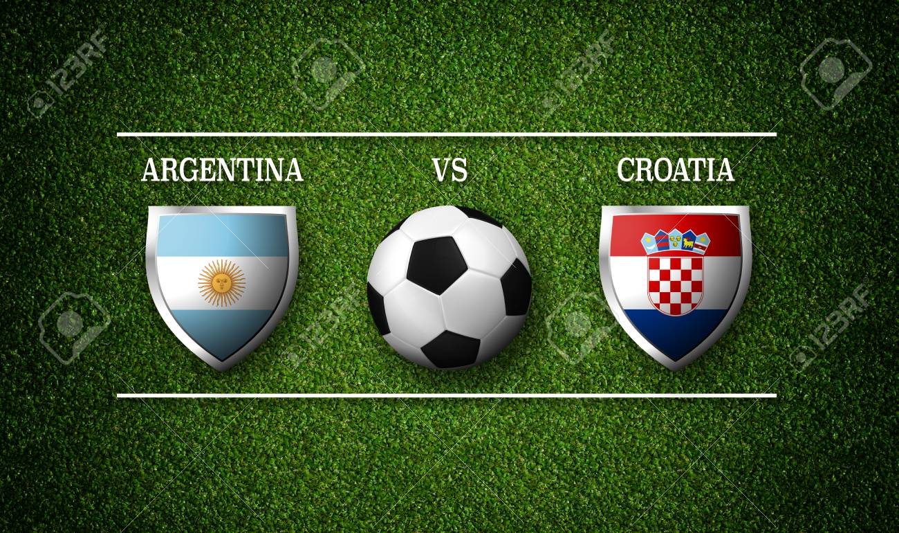Football Match schedule, Argentina vs Croatia, flags of countries
