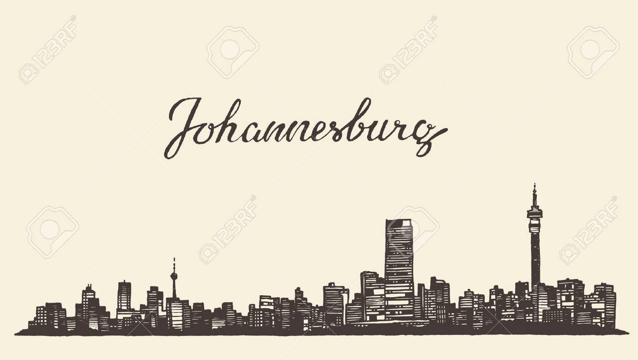 Johannesburg skyline vintage vector engraved illustration hand johannesburg skyline vintage vector engraved illustration hand drawn sketch stock vector 43360489 thecheapjerseys Images