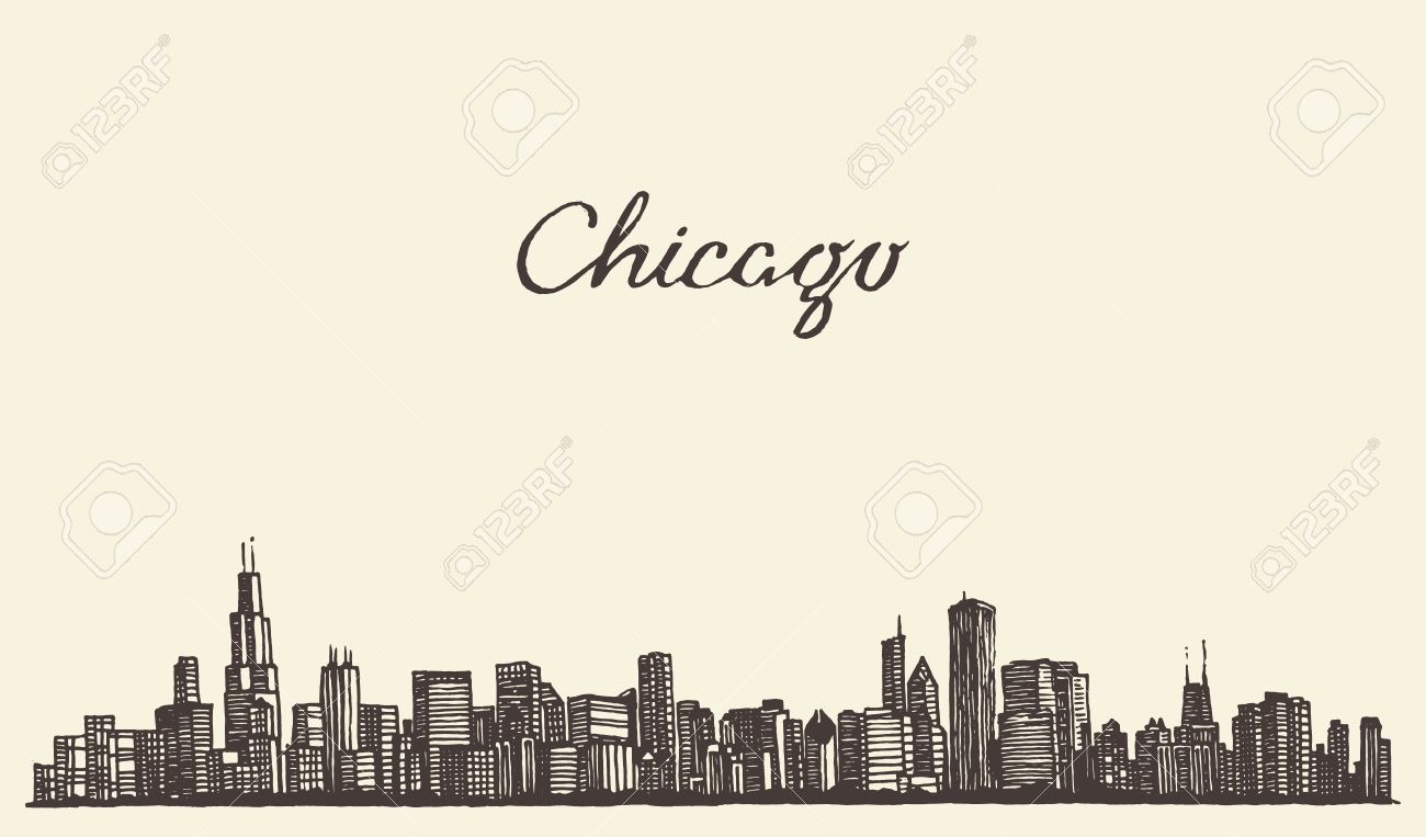 800 Chicago Skyline Stock Illustrations, Cliparts And Royalty Free ...