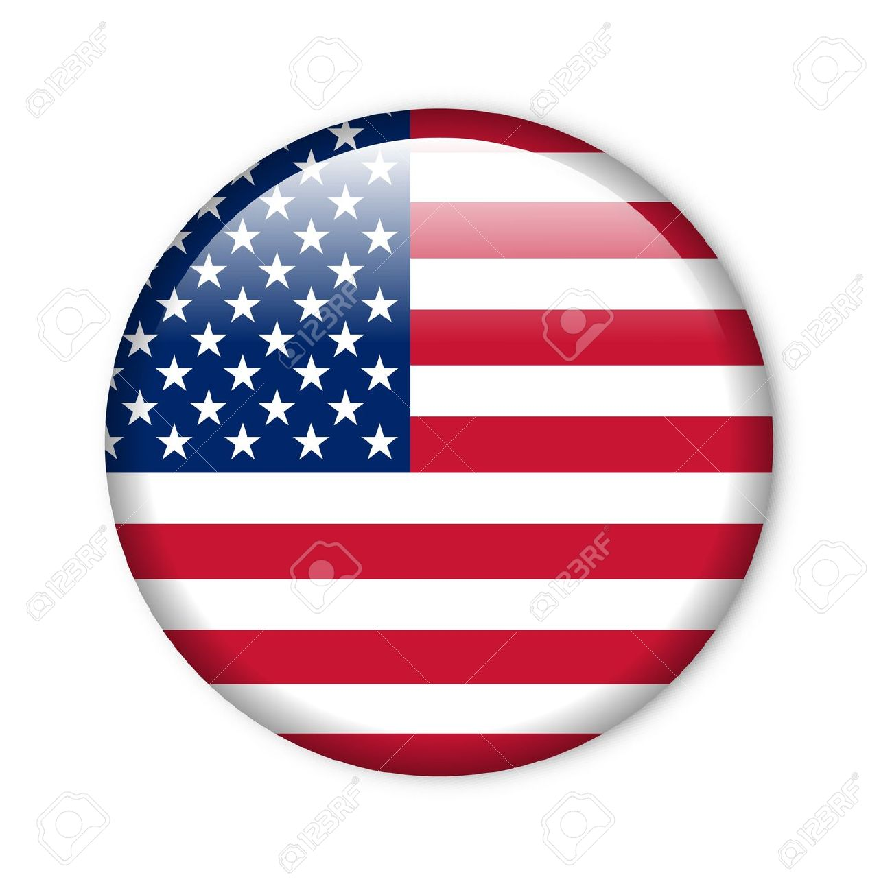 united states - glossy button with flag Stock Photo - 11279661