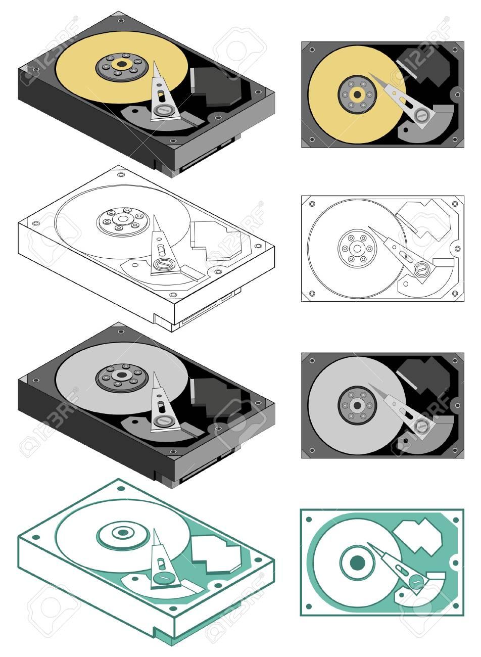 Illustration of computer hard drive Stock Vector - 5470869