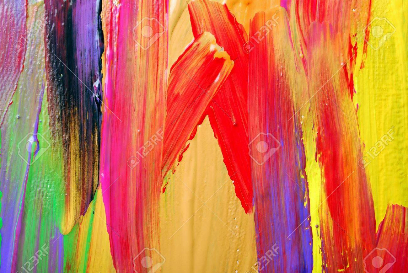 Abstract art backgrounds. Hand-painted background. SELF MADE. Stock Photo - 18931356