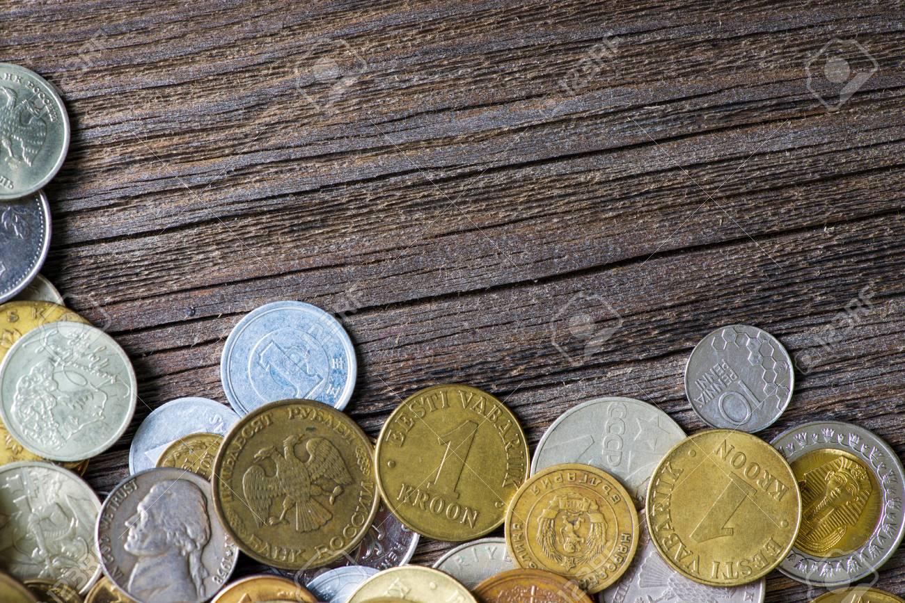 Münzen Verschiedener Länder Und Zeiten Lizenzfreie Fotos Bilder Und