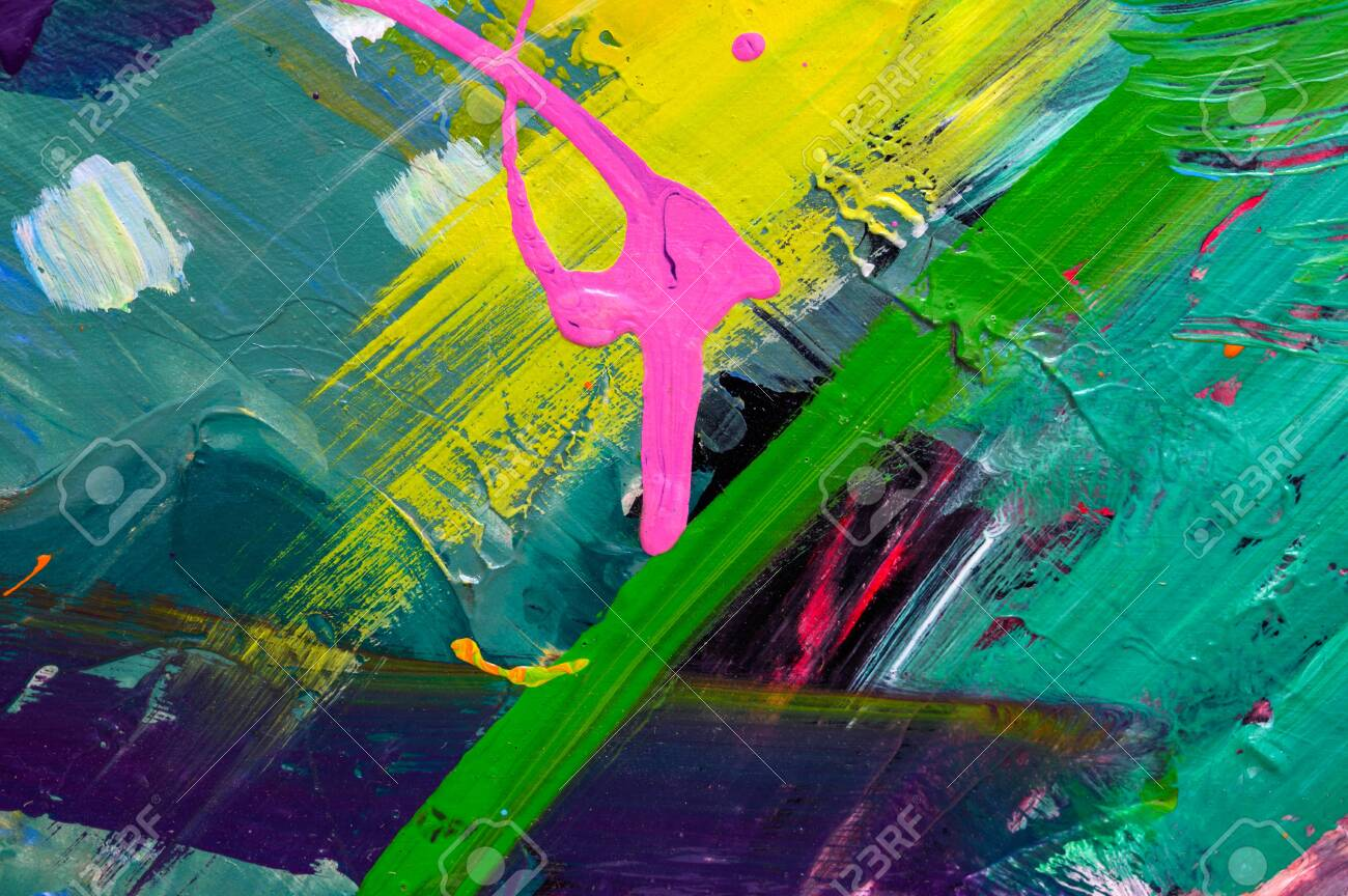 Abstract art background. Hand-painted background. SELF MADE - 135750223