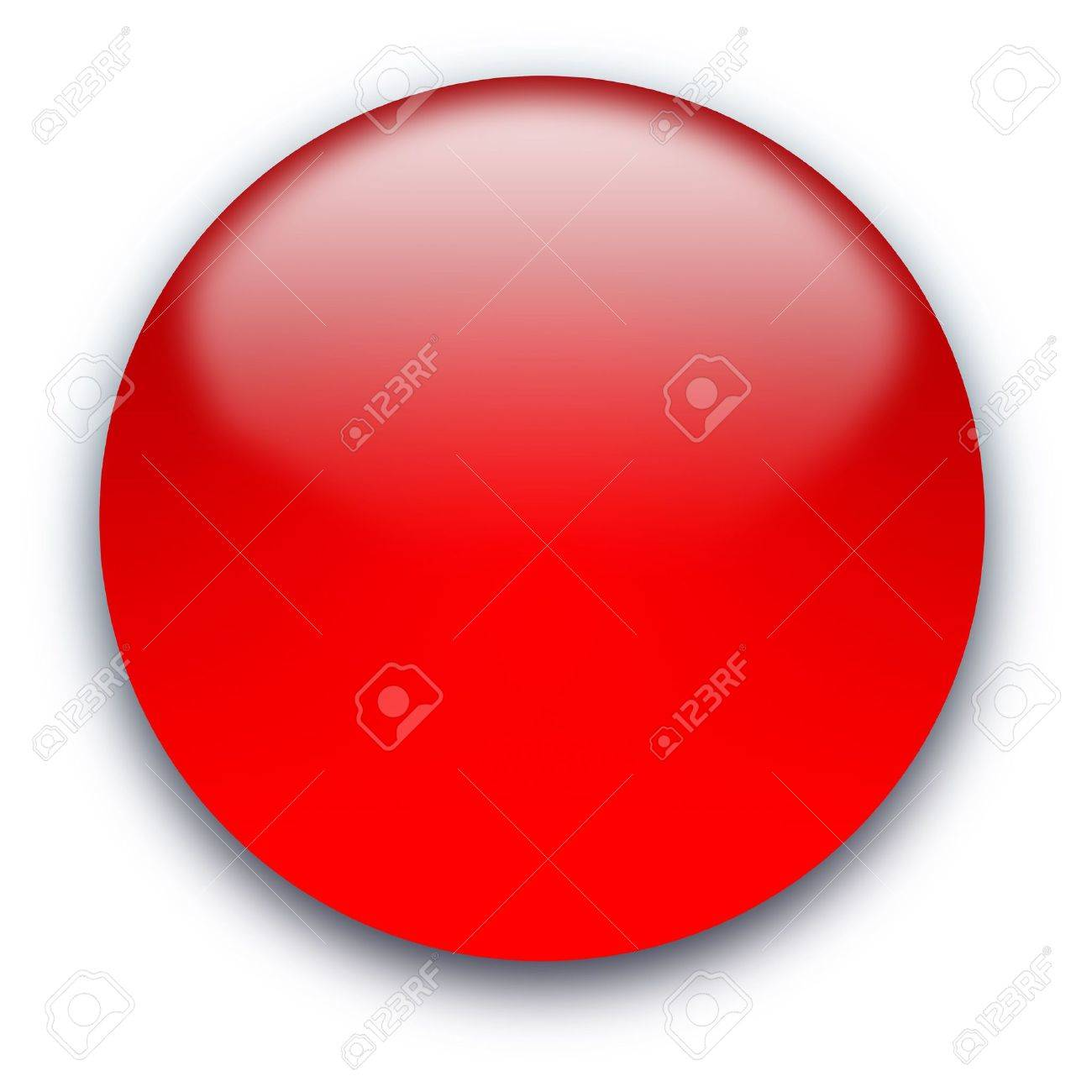 Glossy round empty button isolated over white background Stock Photo - 5243039