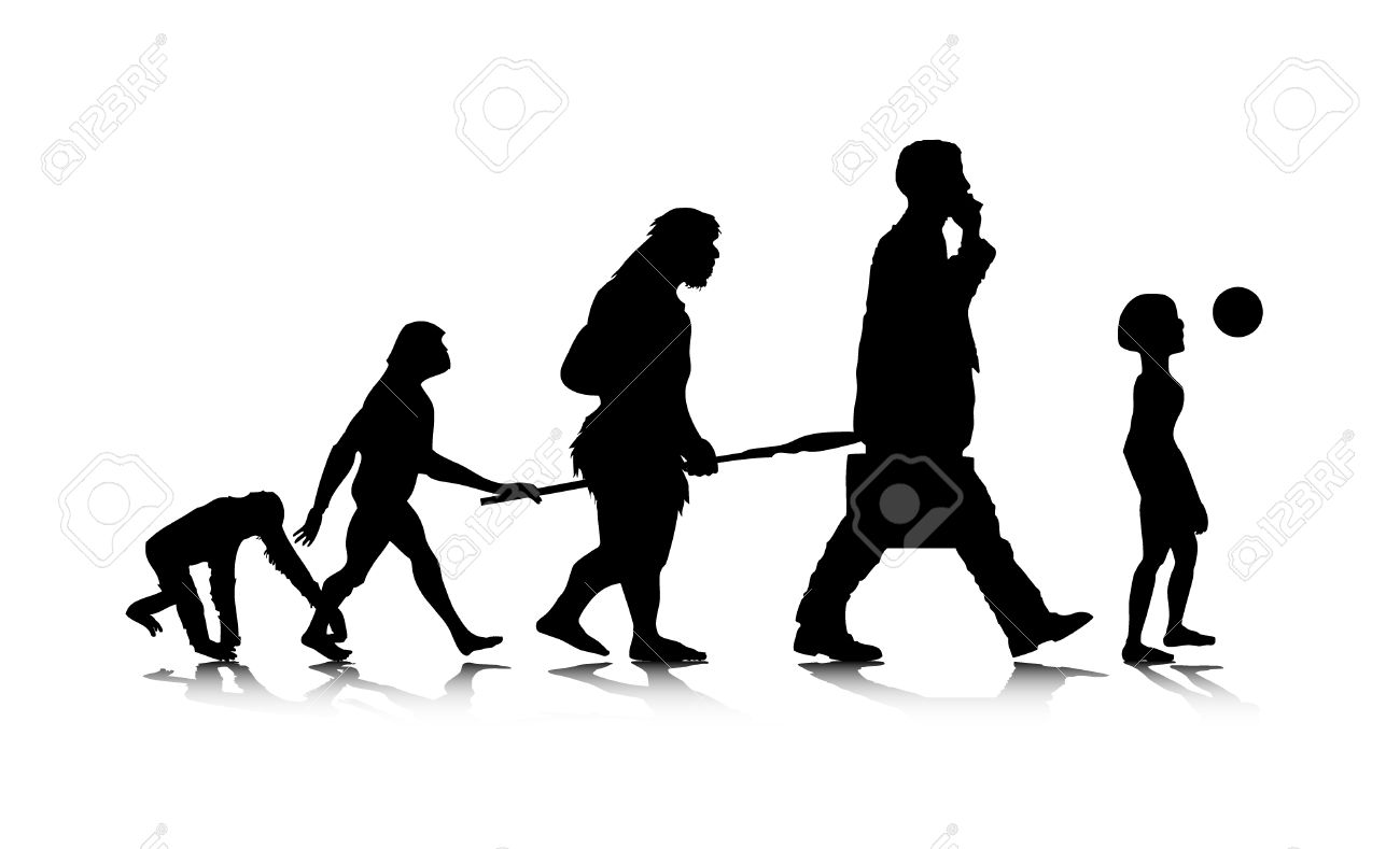 An abstract illustration of a future human evolution. Stock Vector - 6828368