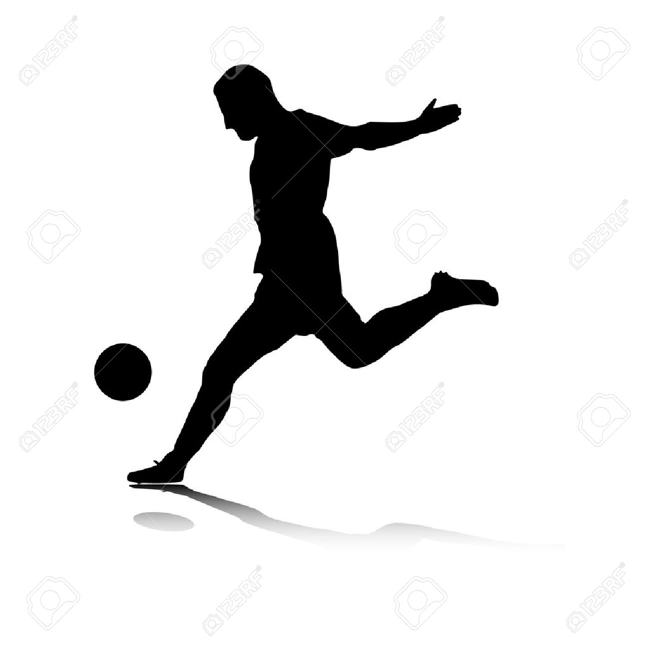 Illustration of a striker�s shot. Stock Vector - 6828367