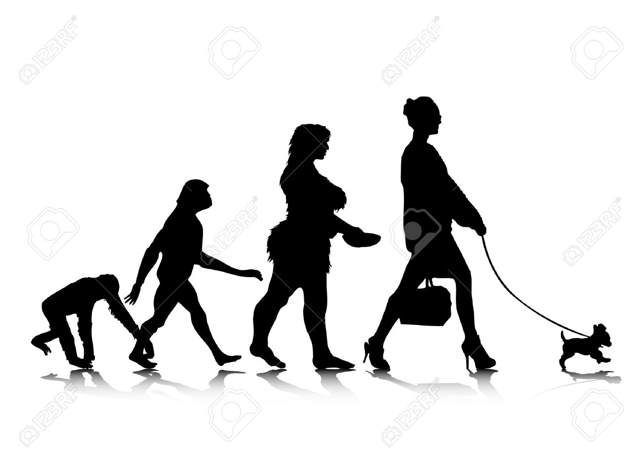 An abstract illustration of human evolution. Stock Vector - 8090310