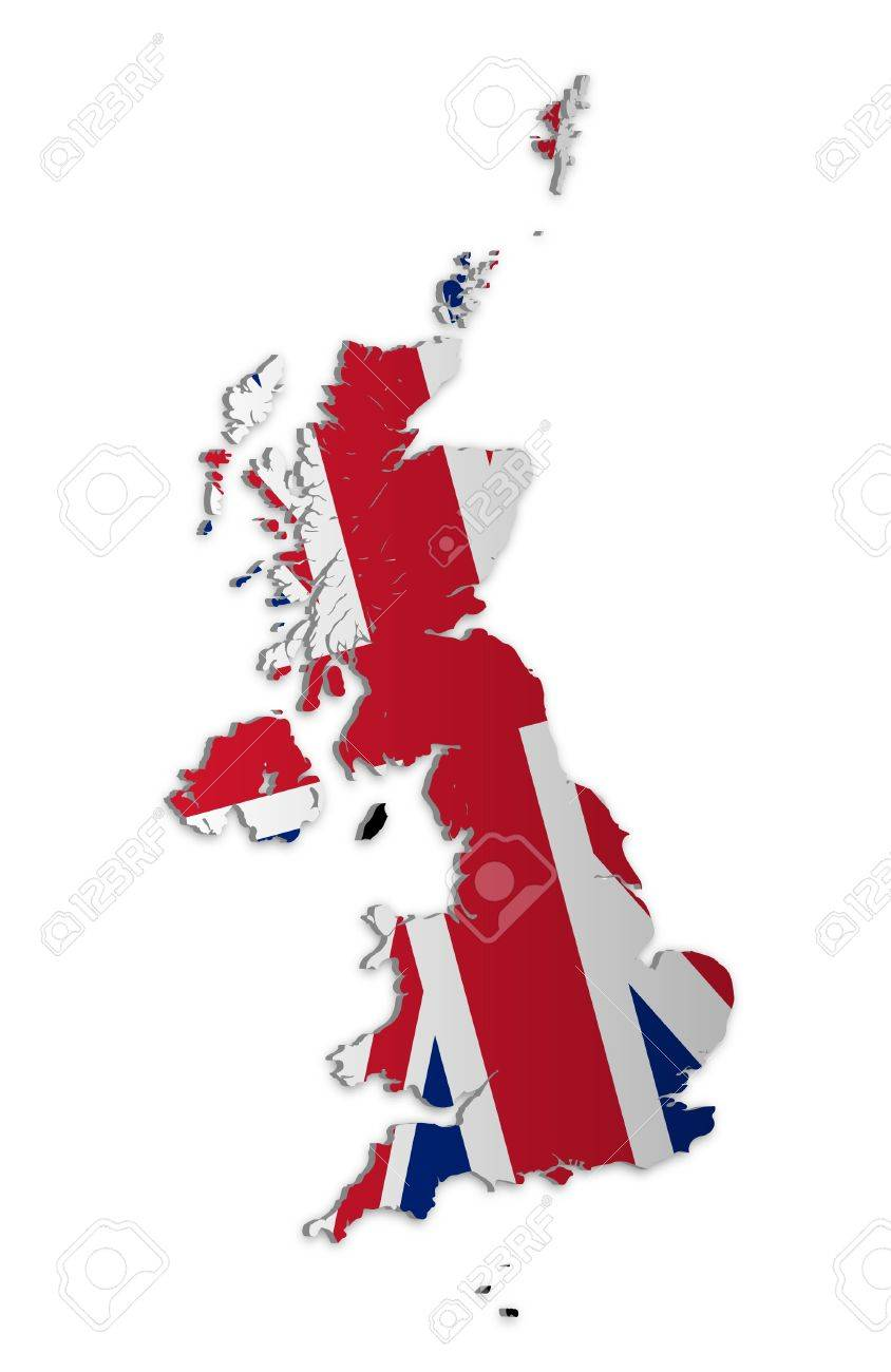 A simple 3D map of the UK and the Crown Dependencies. Stock Vector - 9187756