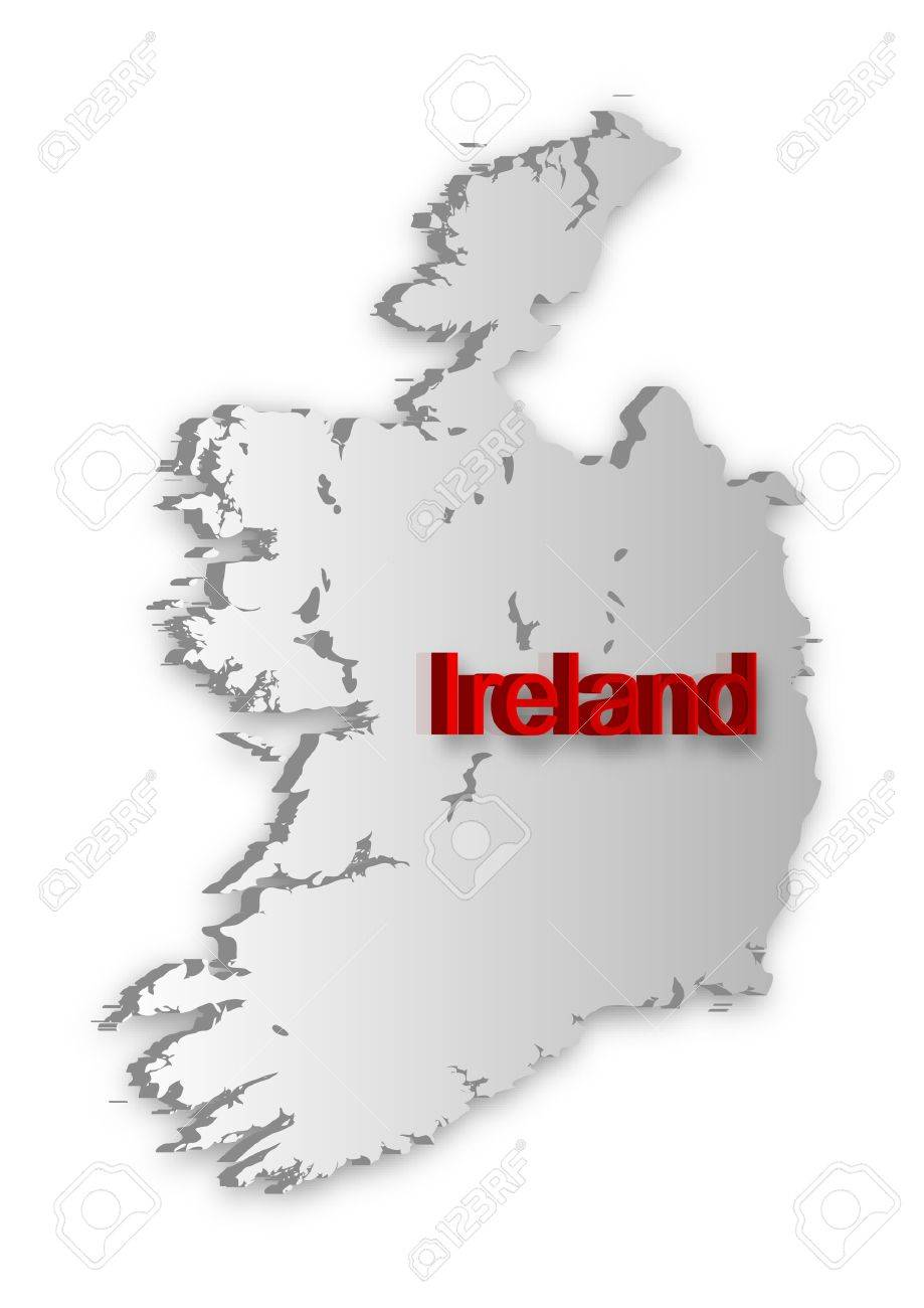 A simple 3D map of Ireland. Stock Vector - 9310257