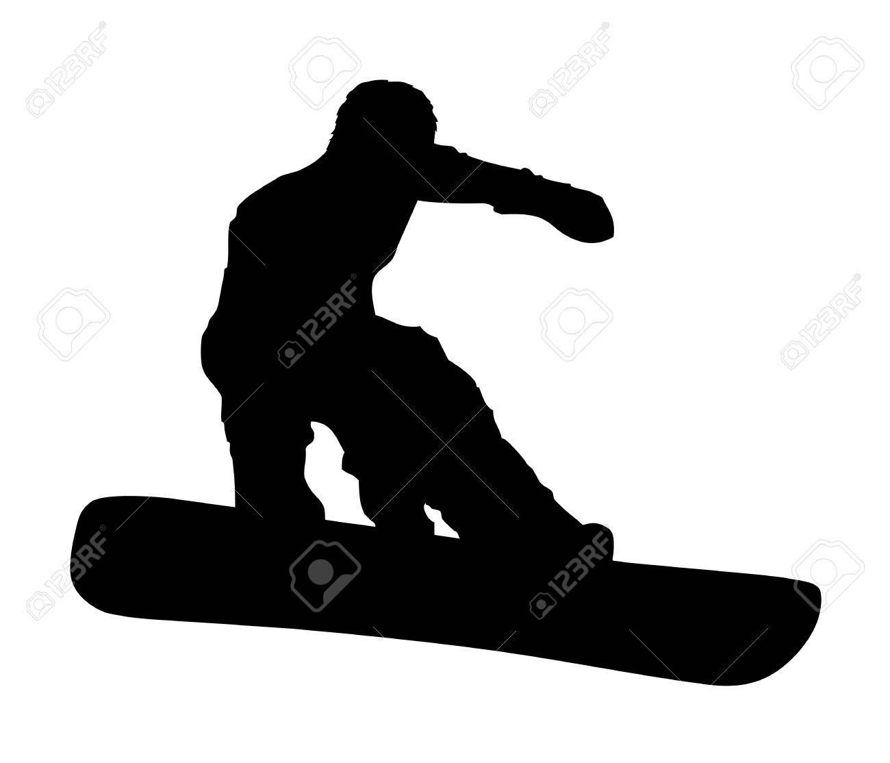 An abstract vector illustration of a snowboarder during a grab. Stock Vector - 11987361