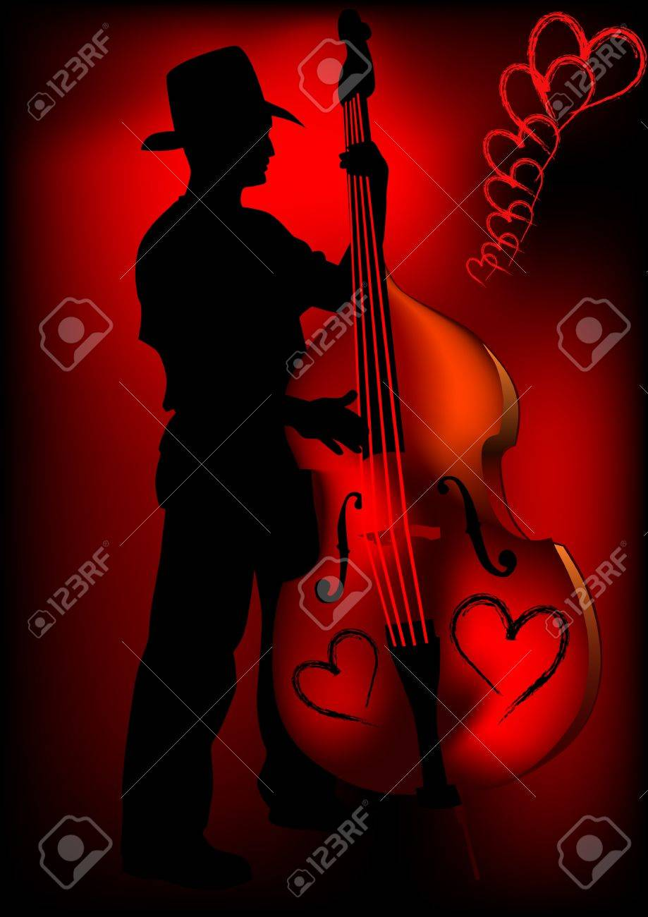 Vector drawing tool bass. A live performance on stage Stock Vector - 6046229