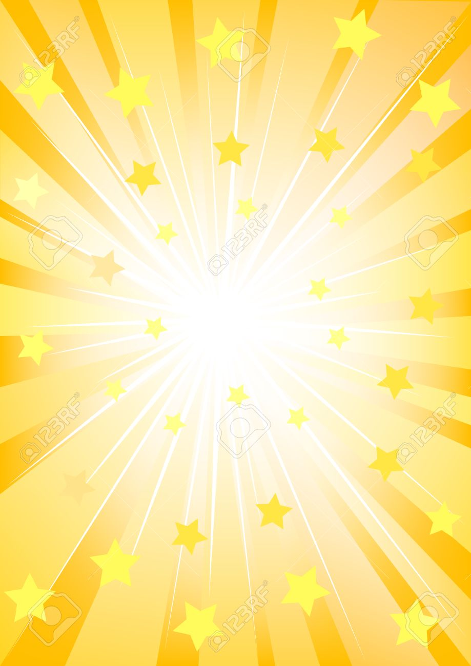 Vector drawing of bright light and stars Stock Vector - 6101101