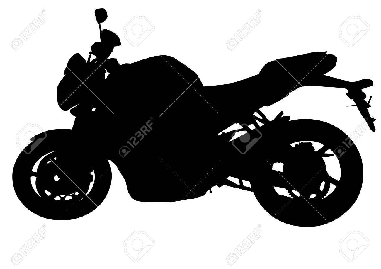 Souvent Dessin Moto Noir. Silhouette Sur Un Fond Blanc Clip Art Libres De  ZY94