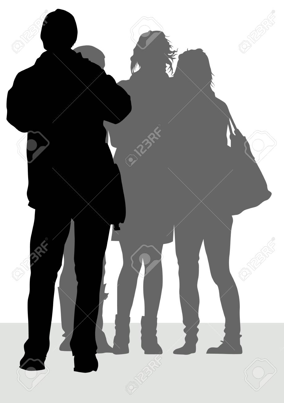 image of photographer and girls during travel Stock Vector - 6905622