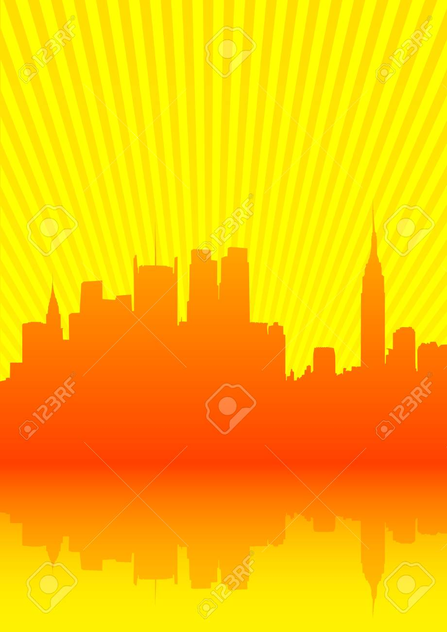 Vector image of city by sea Stock Vector - 10291620