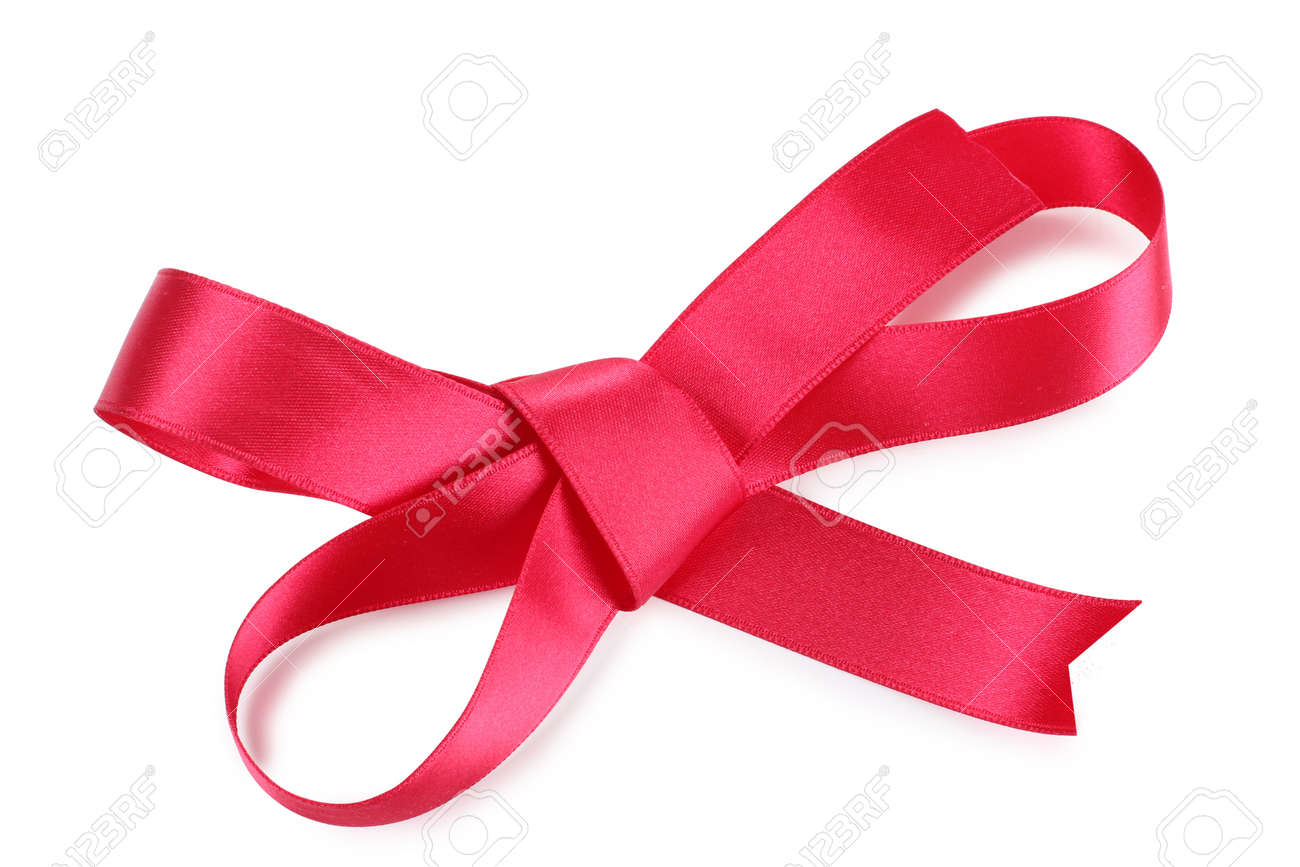 Color photo of a bow on red ribbon Stock Photo - 10420104