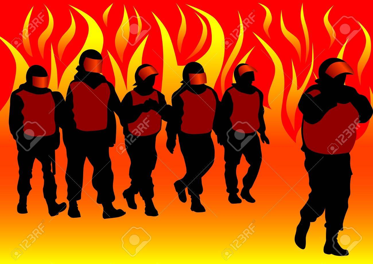 Vector image of police in form of protective Stock Vector - 11663904