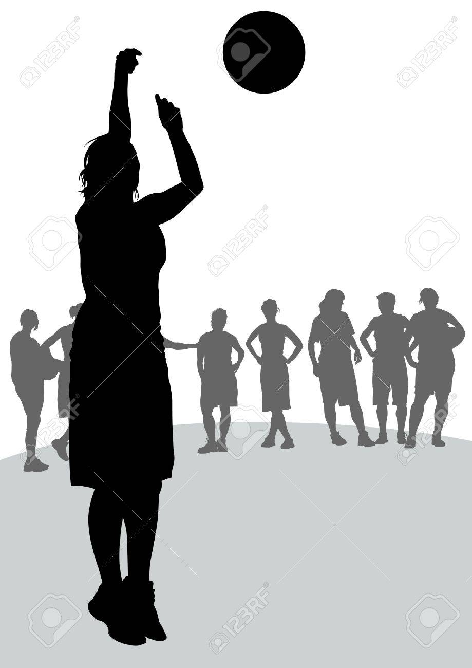 Vector drawing competitions in basketball Stock Vector - 11813872