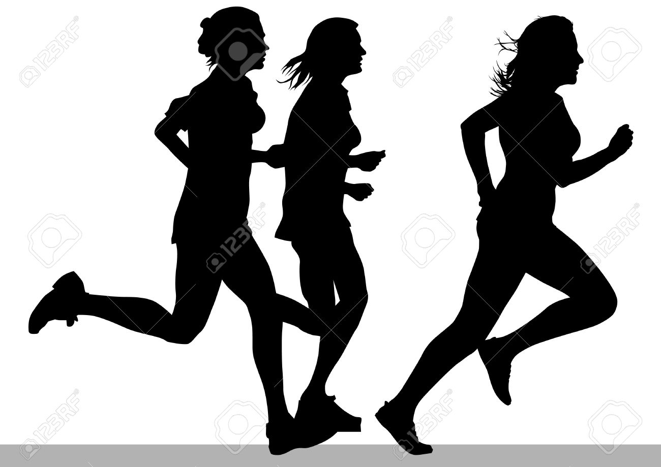 Vector drawing competition run among women Stock Vector - 12864174
