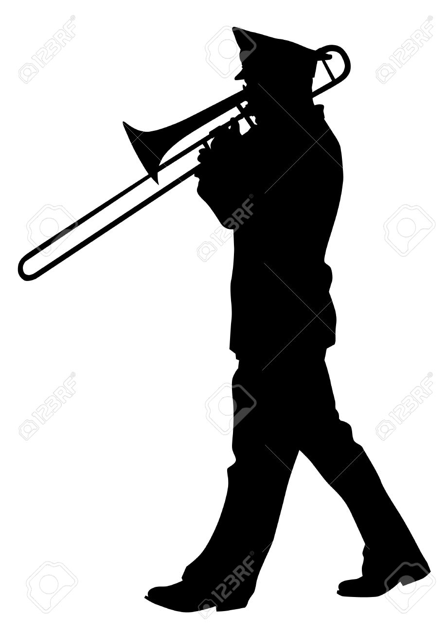 Vector image of a brass military orchestra - 13677343