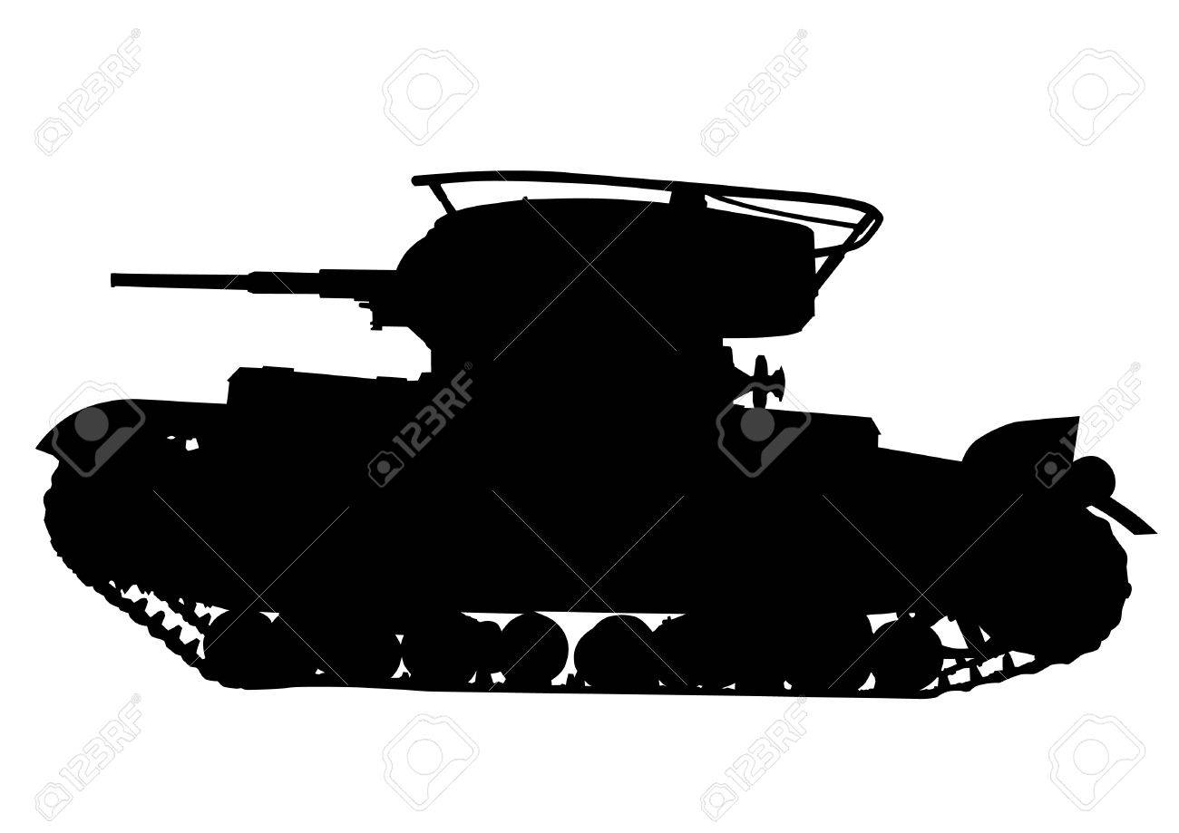 Vector drawing of an modern military tank Stock Vector - 15304213