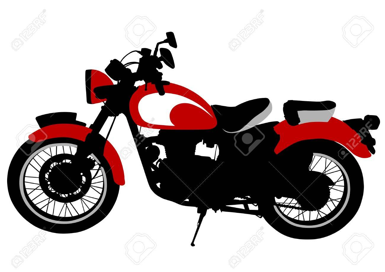 Drawing A Old Tourist Motorcycle Royalty Free Cliparts Vectors And Stock Illustration Image 15809796