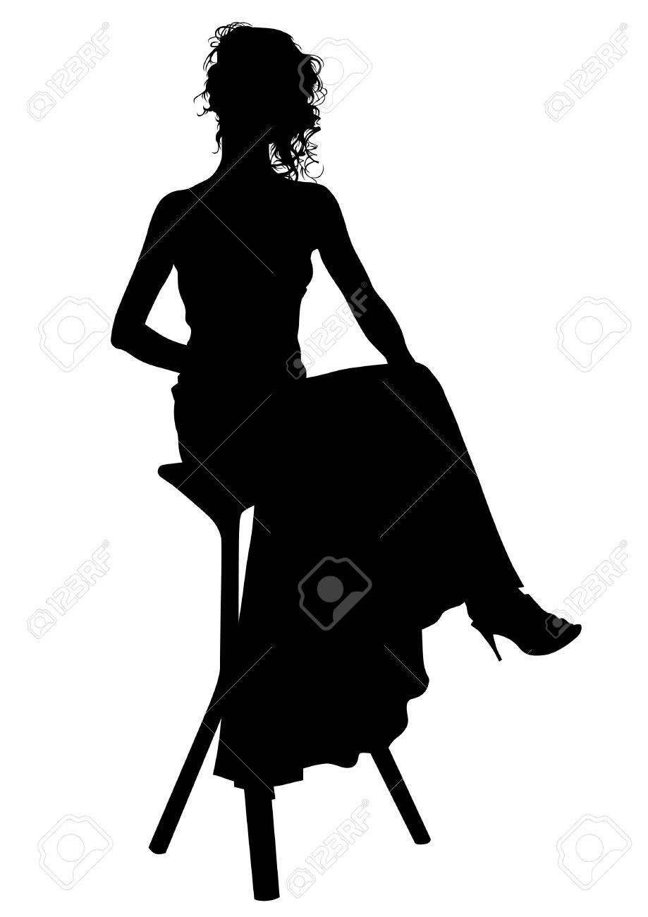 drawing beautiful girl in dress Stock Vector - 16251032