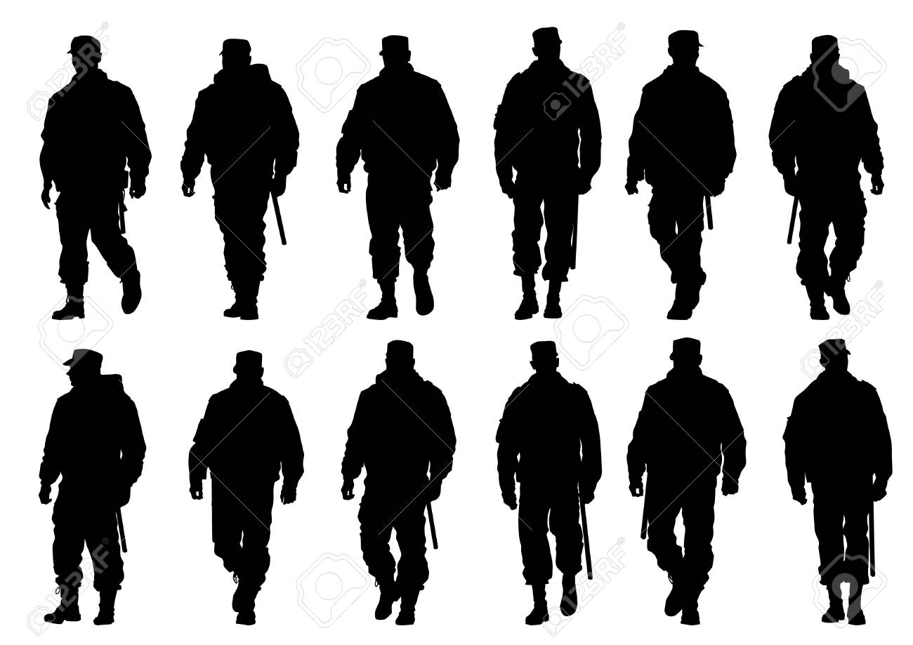 image of police in form of protective Stock Vector - 17665940